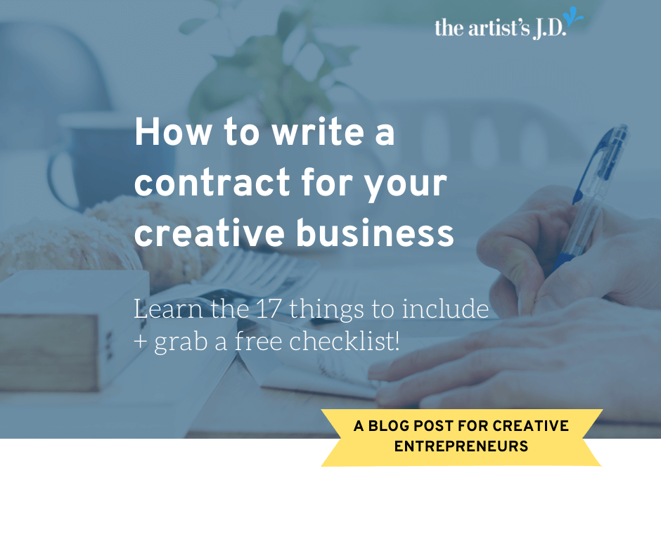 Contracts can be scary, but they are essential to every creative business. Learn the 17 things you should consider including when you write your contract.