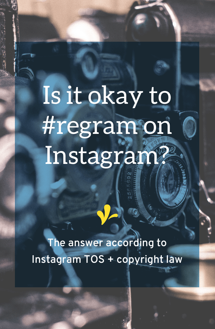 I dug into the Instagram terms of service & community guidelines to learn if it is okay to use #regram share other's photos. The short answer is you need to get permission first. Click through to read the full answer.