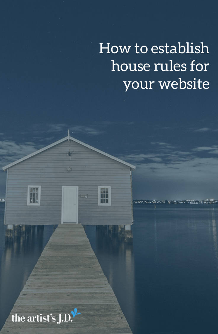 I like to think of your website as your virtual home. And your terms of service and disclaimer help you establish house rules with these visitors.