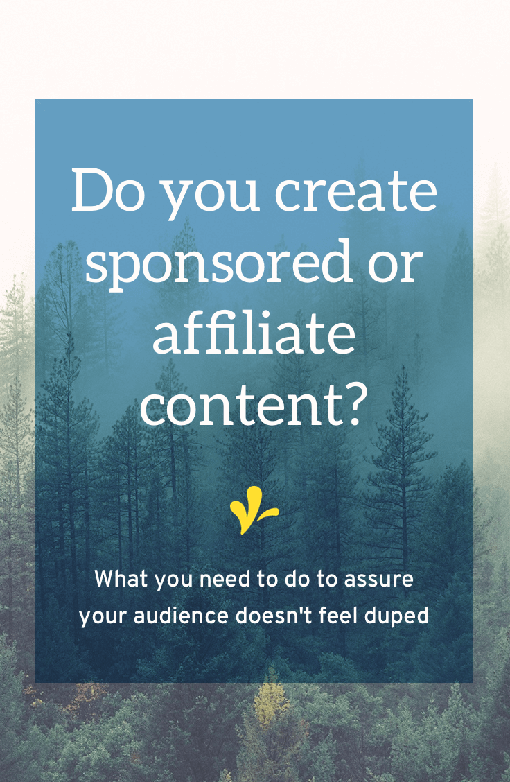 Having sponsored posts or being an affiliate is a common revenue stream. And there\'s no shame in it. But ethically and legally you need to let people know you are getting a kick-back for recommending that product or service. Click through to learn what you need to do.