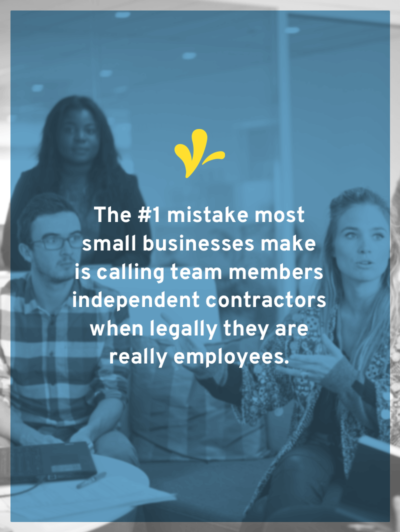 When adding team members we want to call them independent contractors. But what's the right name for that team member: employee or independent contractor?