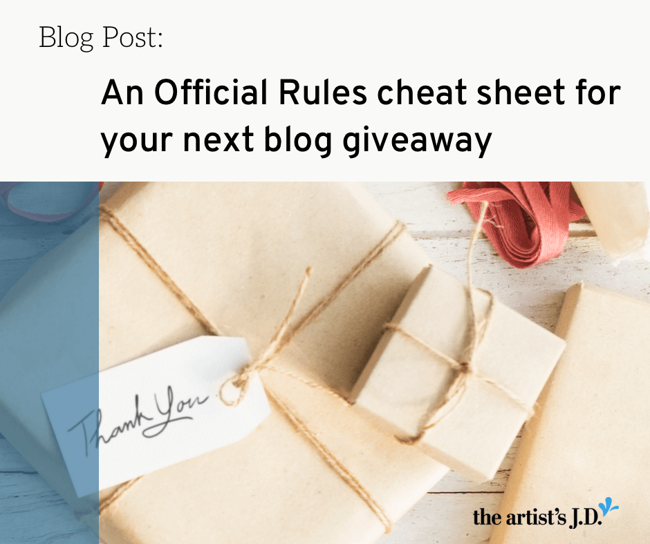 Do you know what needs to be included in your giveaway's Official Rules? How to draft them so you can keep your next giveaway on the right side of the law.