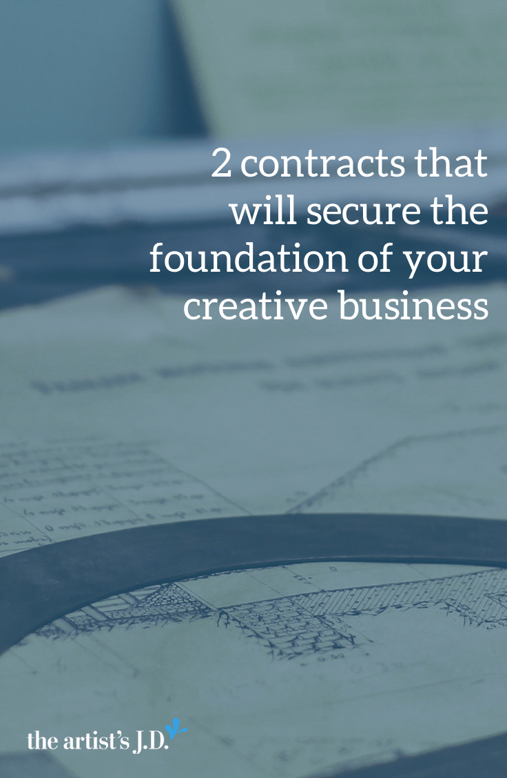 There are two contracts that can protect your creative business and avoid the 1 am panic attack: a client contract and an independent contractor agreement.