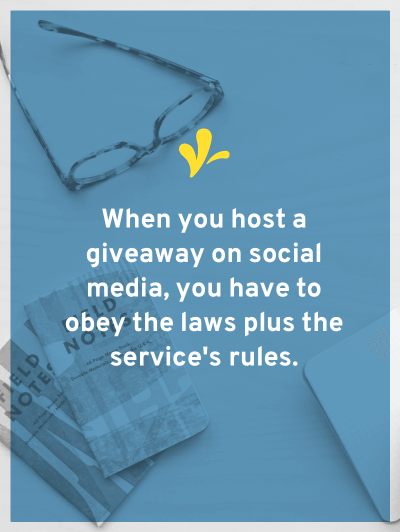 When hosting a giveaway on social media, you have to follow the laws and the terms of service. How can you safely host a Pinterest or Twitter giveaway?