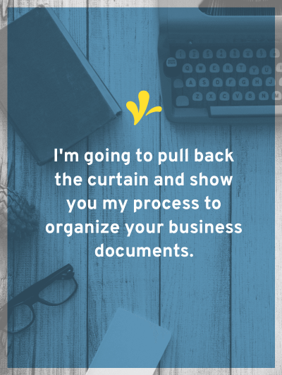 You should have a set of legal documents to protect your business. Learn which documents you should have and my method for easily keeping them organized.