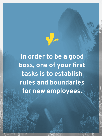 You should establish rules and boundaries with your new employees. But do you know what you legally should and shouldn't include in these rules?