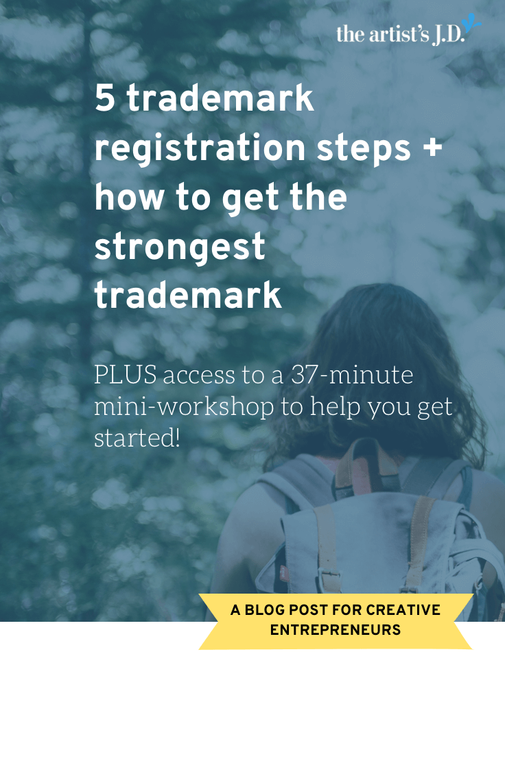 I believe in DIY-ing things for your biz. But I think it\'s a terrible idea to DIY your trademark. Learn why + the five trademark registration steps. Plus get access to a workshop recording to help you navigate the process!