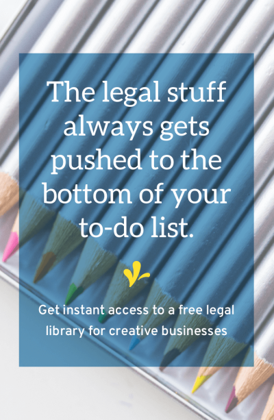 Your business is on a unique journey and you need resources to help you where you are. Click through to get instant access to our intuitive legal library designed exclusively for creative entrepreneurs.
