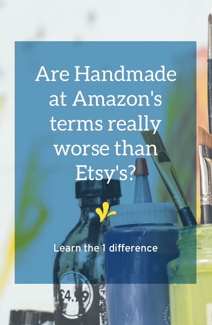 There's been a lot of buzz about the Handmade at Amazon terms of service. Learn what exactly what they say and how they differ from Etsy's terms of service.