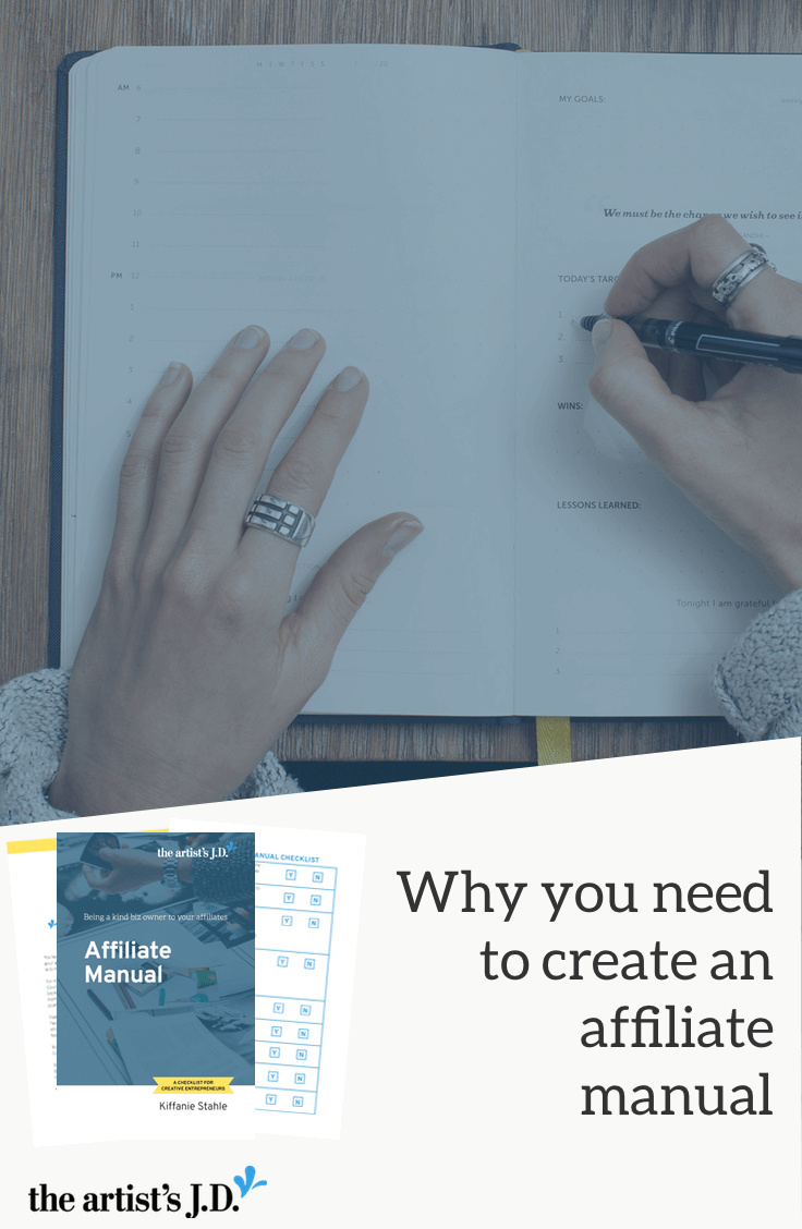 Giving an affiliate manual will not only make it less likely your affiliates will get in trouble with the law, but result in fewer emails in your inbox.