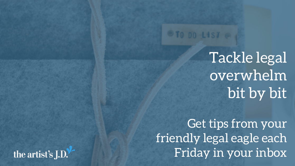 Overwhelmed by all the legal to-dos? Get a free legal tip each week in your inbox from your friendly legal eagle.