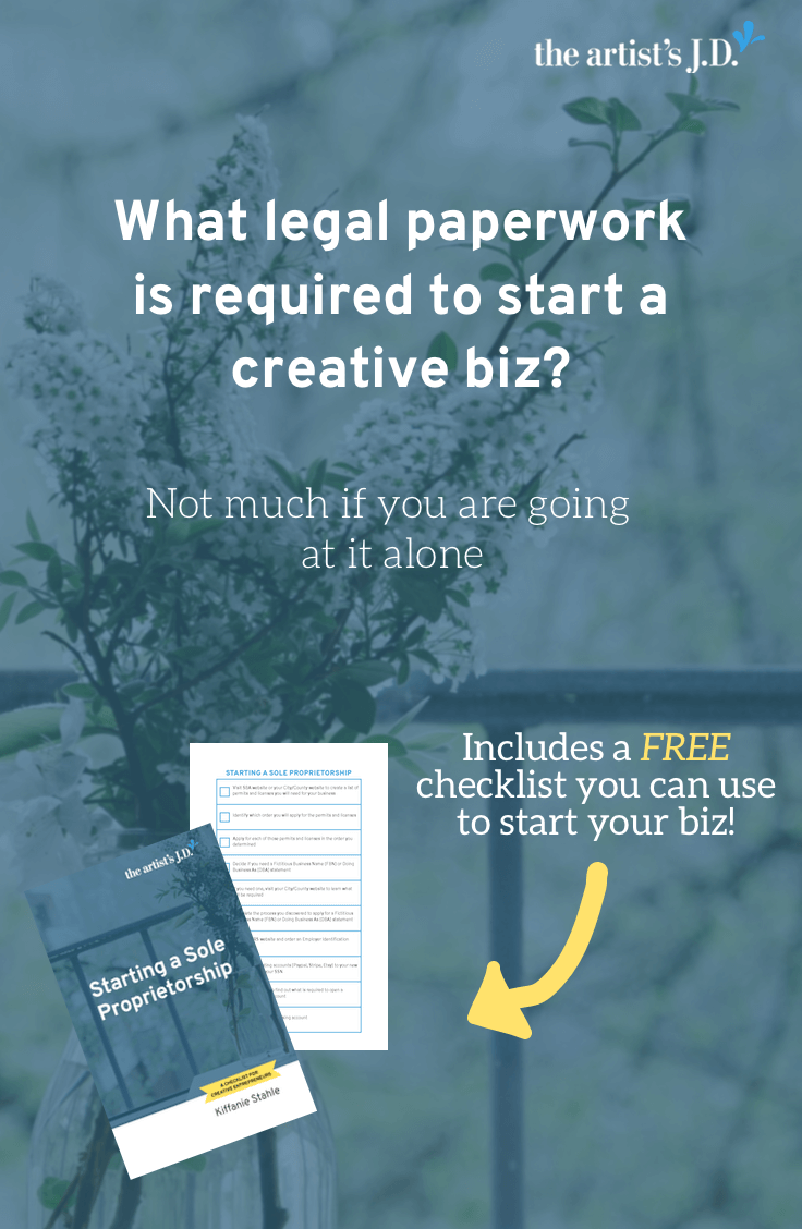 Are you starting a creative business? Click through to download a checklist on what legal tasks are (and aren't) important from Day 1.