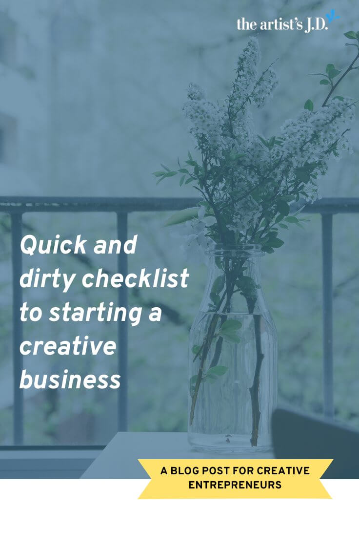 Are you starting a creative business? Click through to download a checklist that will give you what you need to get your business up and running and stay on the right side of the law.