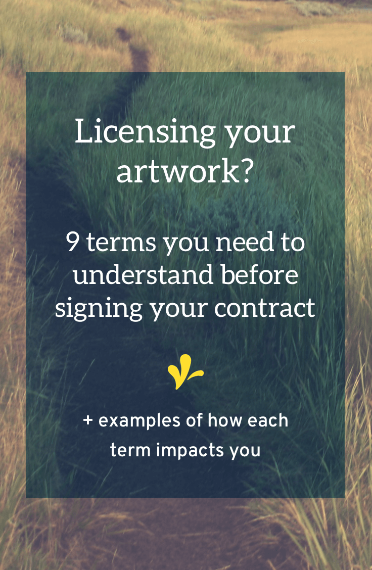 Art licensing agreements come with their own set of jargon. But it\'s important to understand these terms. Click through to learn 9 important terms and how they will impact your business.