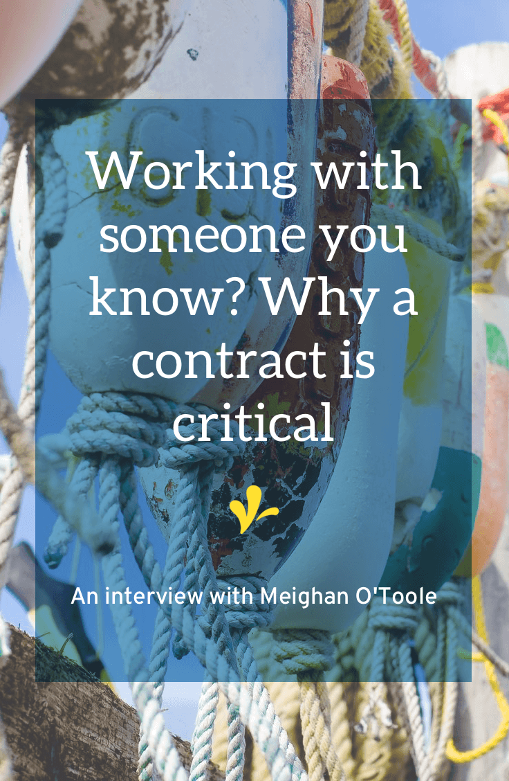 Meighan O'Toole was reminded the hard way of how important contracts are, especially when dealing with acquaintances. Click through to read the whole story and see how a quick email exchange can form a contract.