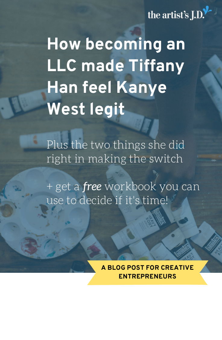 In this interview, Tiffany Han explains what becoming an LLC did for her business. And I share two things she did to make her LLC switch successful.