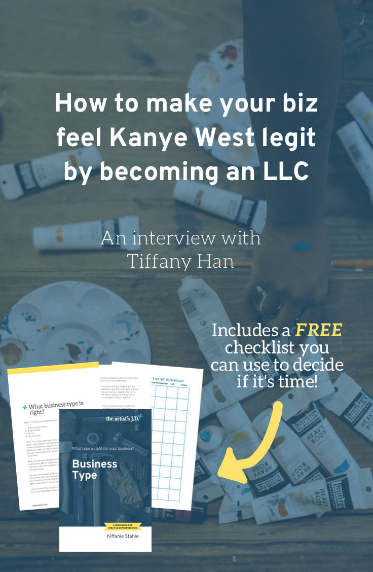 In this interview, Tiffany Han explains what becoming an LLC did for her business. And I share two things she did to make her LLC switch successful. Plus click through to download a workbook you can use to decide if it's time for your business to become an LLC!