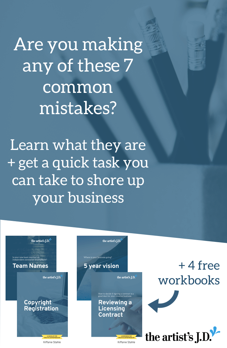 I've seen a lot of creative businesses fail to survive. And there are 7 common mistakes that you should avoid to help your business thrive. Click through to learn these mistakes plus get access to 4 FREE workbooks to help elevate your creative business.