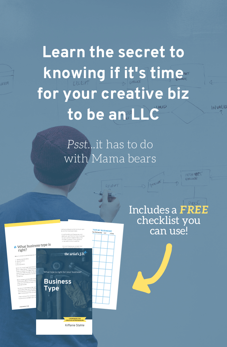 Should your creative business be an LLC? | In this 2600+ word resource you\'ll learn: