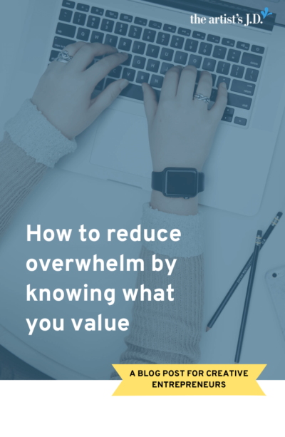 Knowing your business values is one of the keys to reducing overwhelm and filtering out the noise. Use this list of 200+ words to determine your creative business' values.
