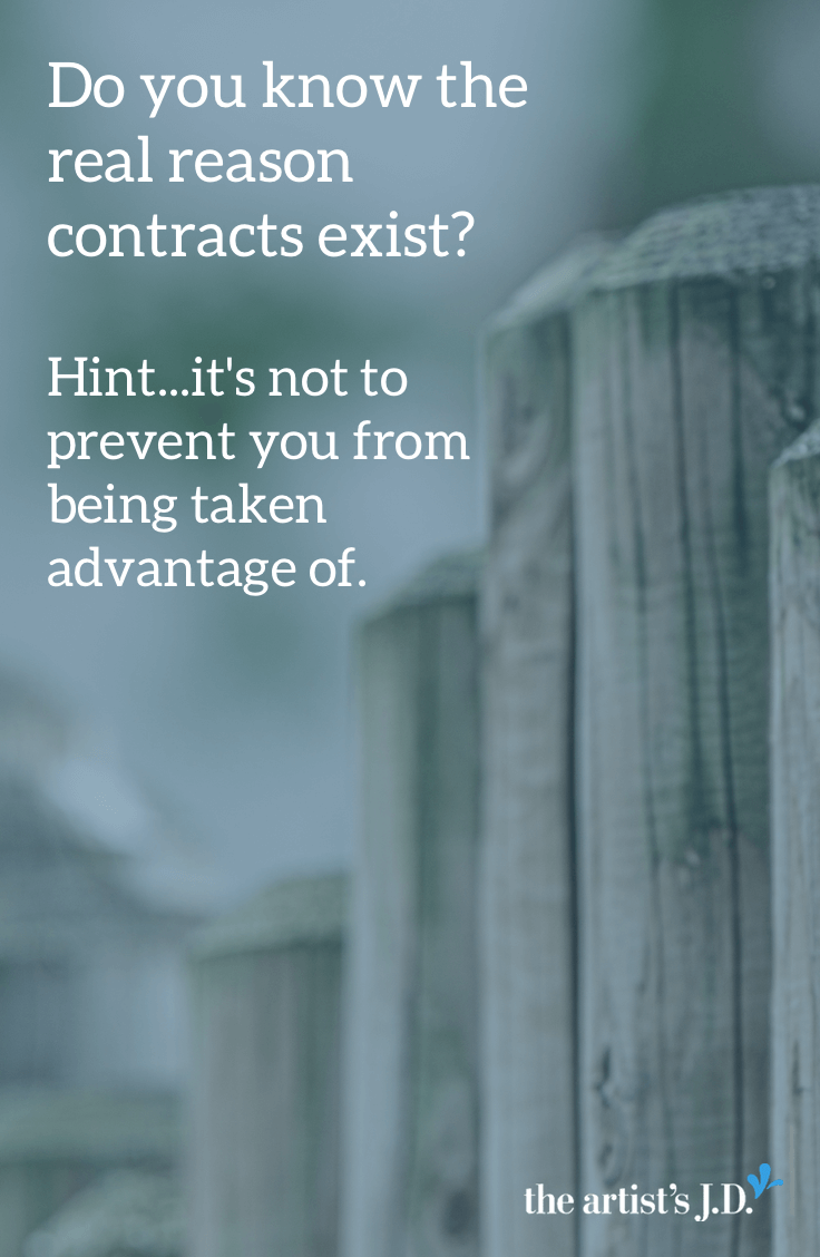 What\'s the purpose of a contract? Not to prevent someone from taking advantage of you, but to make sure everyone is on the same page. Click through to learn what you need to include in your contract and why it\'s never static.