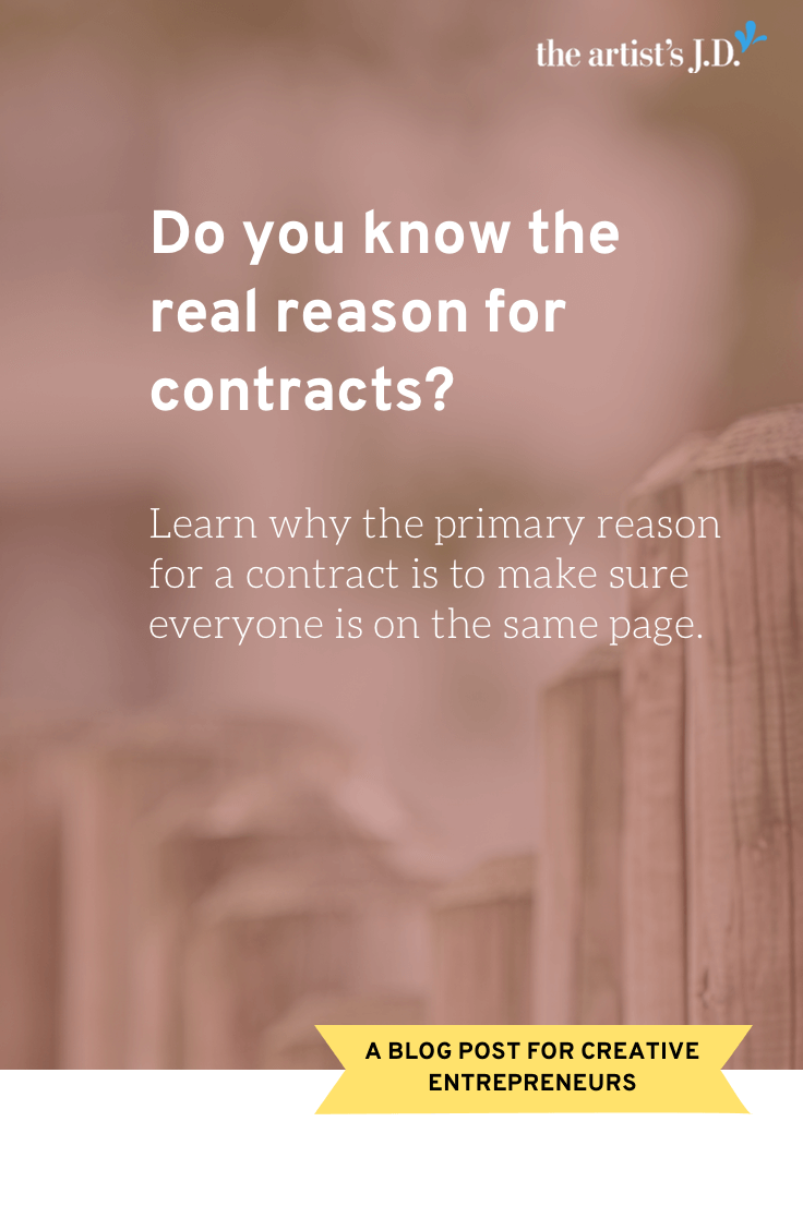 What's the purpose of a contract? Not to prevent someone from taking advantage of you, but to make sure everyone is on the same page.