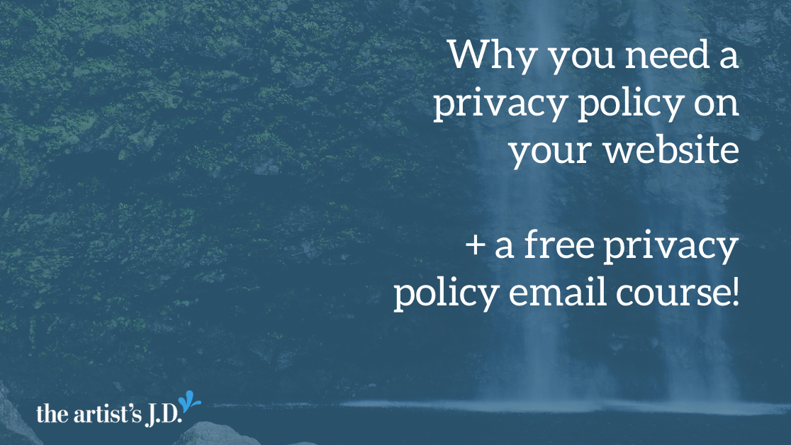 Your website's privacy policy should make it clear what's being collected, how this information is used, and who else can see it. PLUS a free email course!