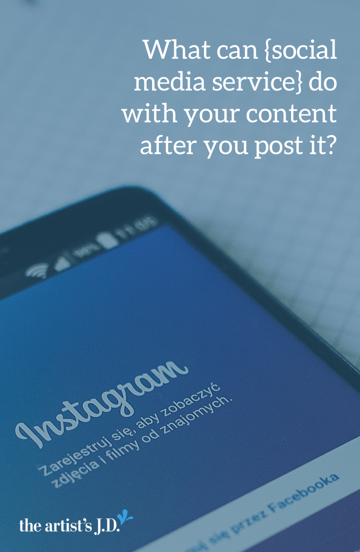 By posting content to any social media service, you give them rights to your content. Click through to learn exactly what rights you are giving up when you hit post.