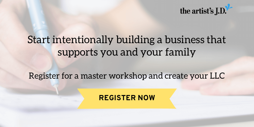A master workshop on creating an LLC for your creative business. Learn the steps to take, why they are a big deal, and how to stay legit.