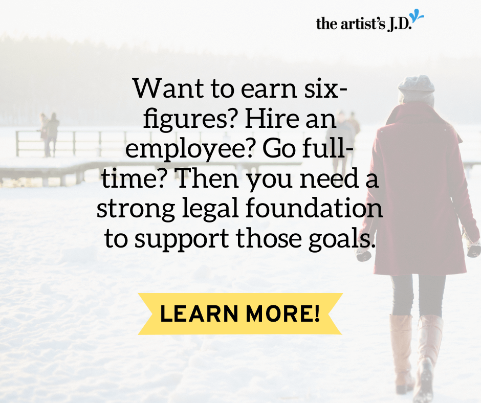 Running a regular legal check-up of your creative business sounds boring. But it is critical to building a foundation to support your 2017 big goals.