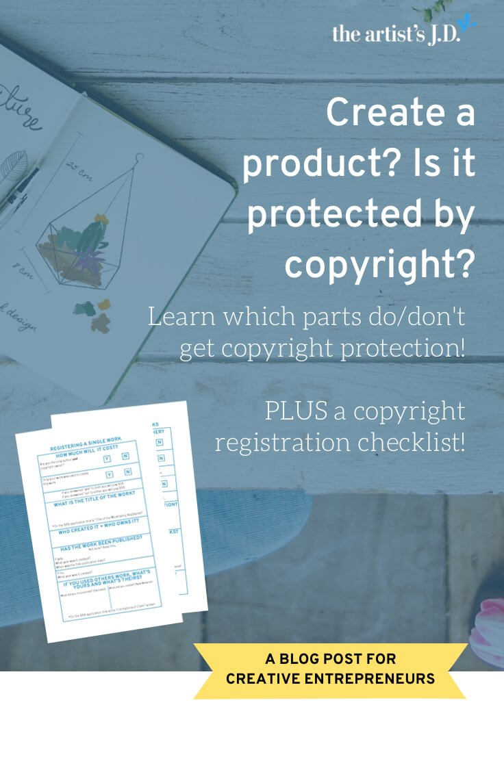 With products what is/isn't protected by copyright can get murky. Click through to learn what qualifies for copyright + if your product is protected!