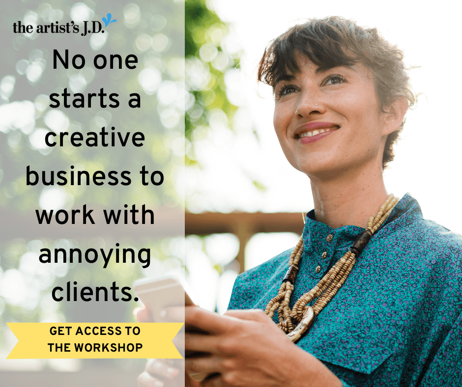 No one starts a creative business to work with annoying clients. Join the master workshop designed to help you finally ditch the annoying, selfish clients.