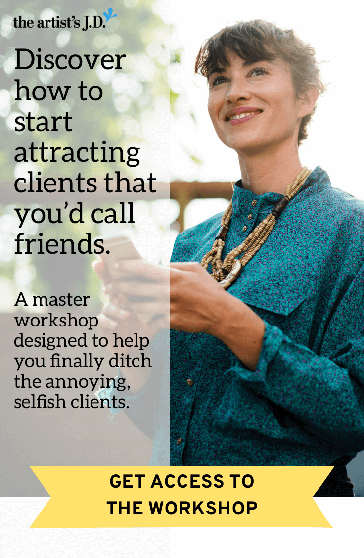 No one starts a creative business to work with annoying clients. Click through to start your FREE 14-day trial and get access to the October 20 master workshop designed to help you finally ditch the annoying, selfish clients.
