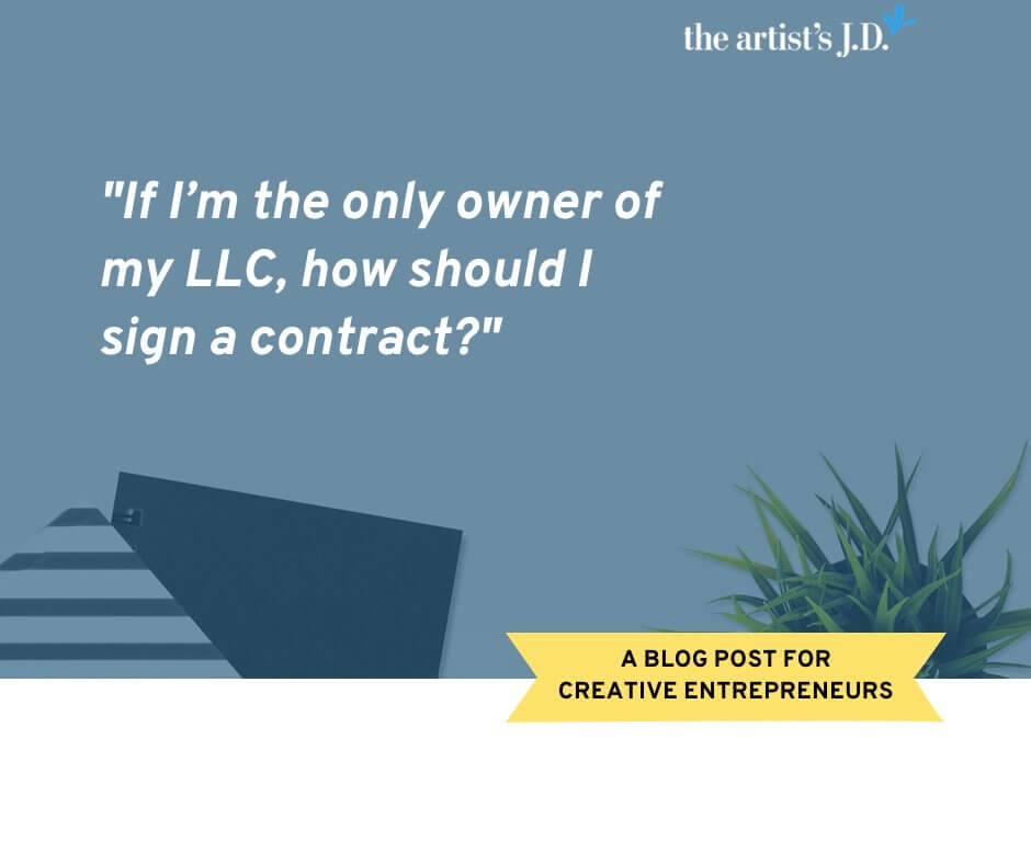 Congrats you are an LLC! Now you have to act like one! In this Ask Kiff, I share how your LLC should sign a contract! (And the one way you shouldn't!)