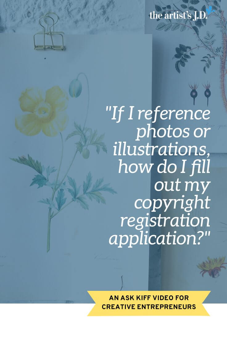 Do you reference photos or illustrations when creating your work? Do you incorporate other\'s work into your own? Then click through to watch this video on how to fill out your U.S. copyright registration application.