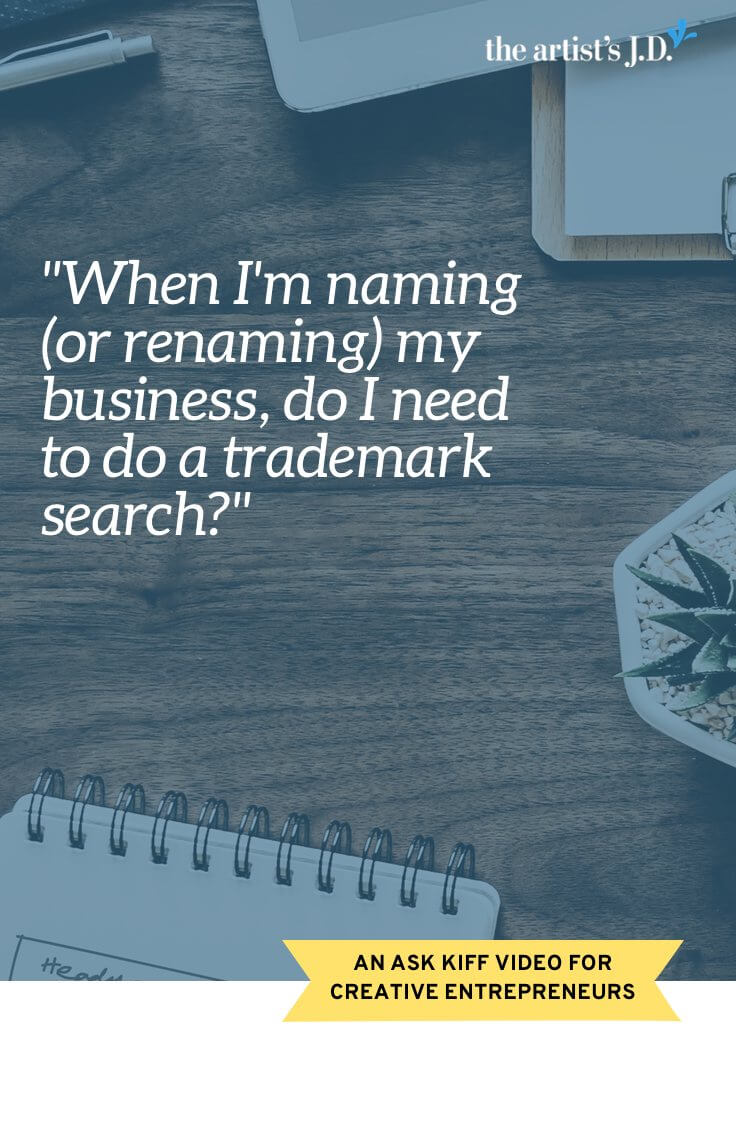 How do you pick a business name that won't force a rebrand or get you in legal hot water? Watch this video to learn what a trademark search is, why it's important, and if you can DIY it. Plus grab a FREE worksheet to help you do a trademark search.