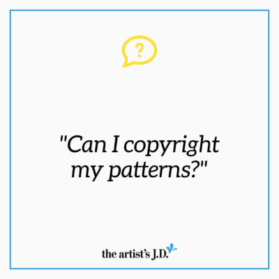 "Have you seen ""For personal use only"" on patterns. Are patterns protected by copyright? Does this hold up? That's what we cover in this Ask Kiff video."