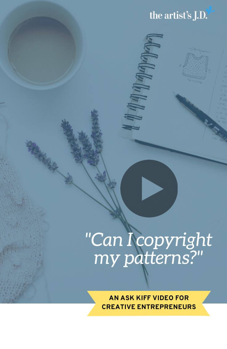 """Have you seen """"For personal use only"""" on patterns. Are patterns protected by copyright? Does this hold up? That's what we cover in this Ask Kiff video."""