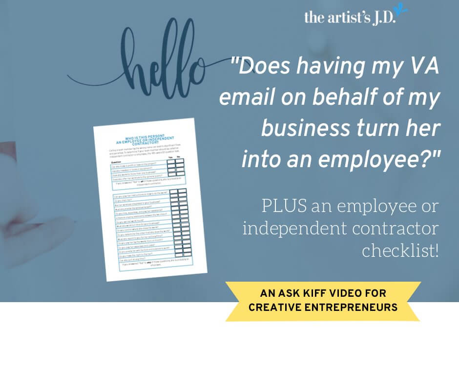 Got a VA? Is she an independent contractor? Then you won't want to miss this video that explains what tasks you legally can and can't assign to her.