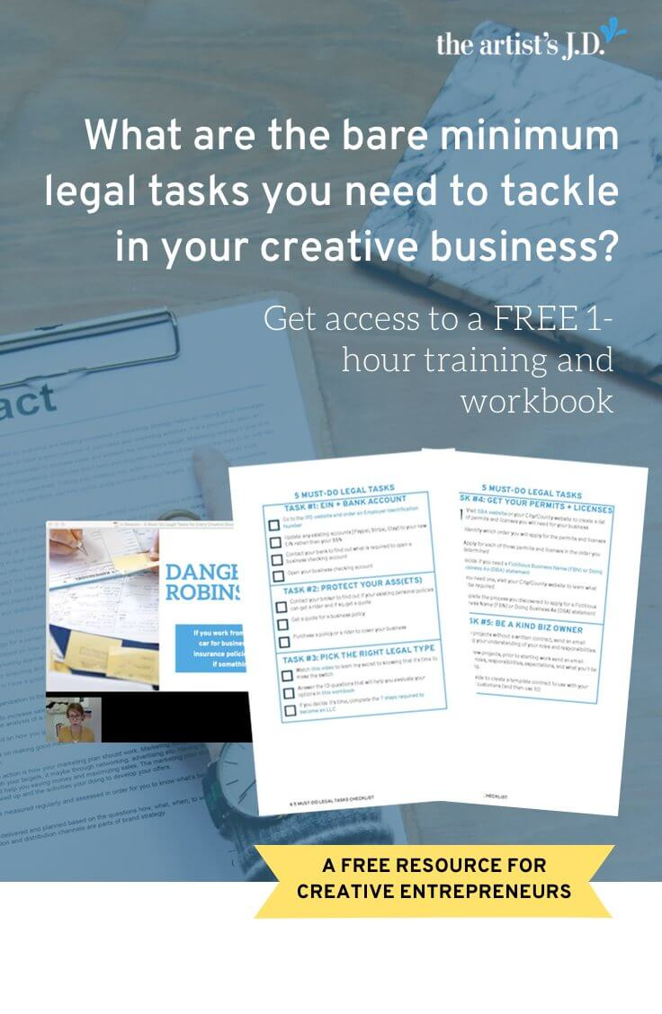 Learn the bare minimum legal tasks you need to do in this FREE 1-hour training. Plus grab a workbook that will help you tackle the 5 must-do tasks.