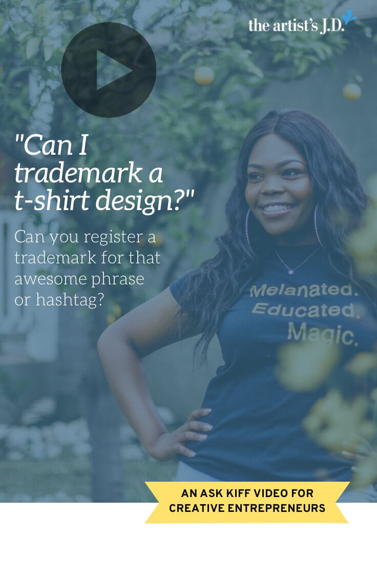 You come up with an awesome phrase that would be perfect for a mug, t-shirt, card, or hat. Learn if you can (or should) try to file a trademark application.