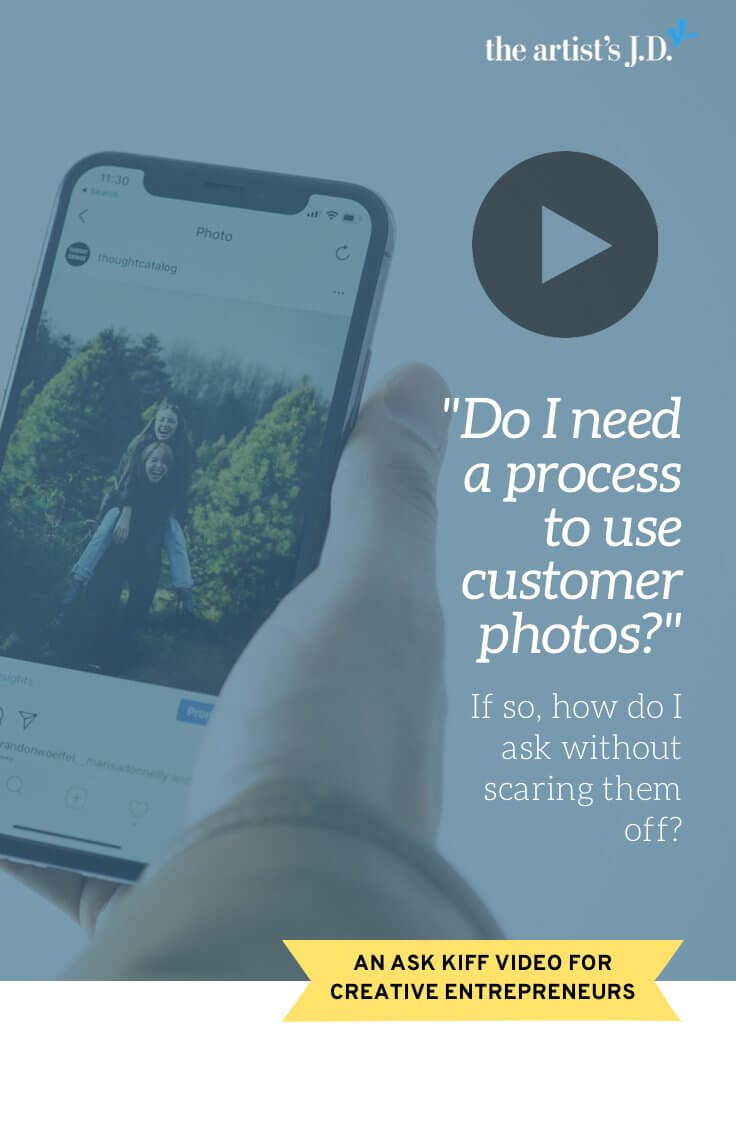 A customer posted the perfect photo of your product in her feed. Should you use it? Or ask first? Learn how to use customer photos in this Ask Kiff episode.