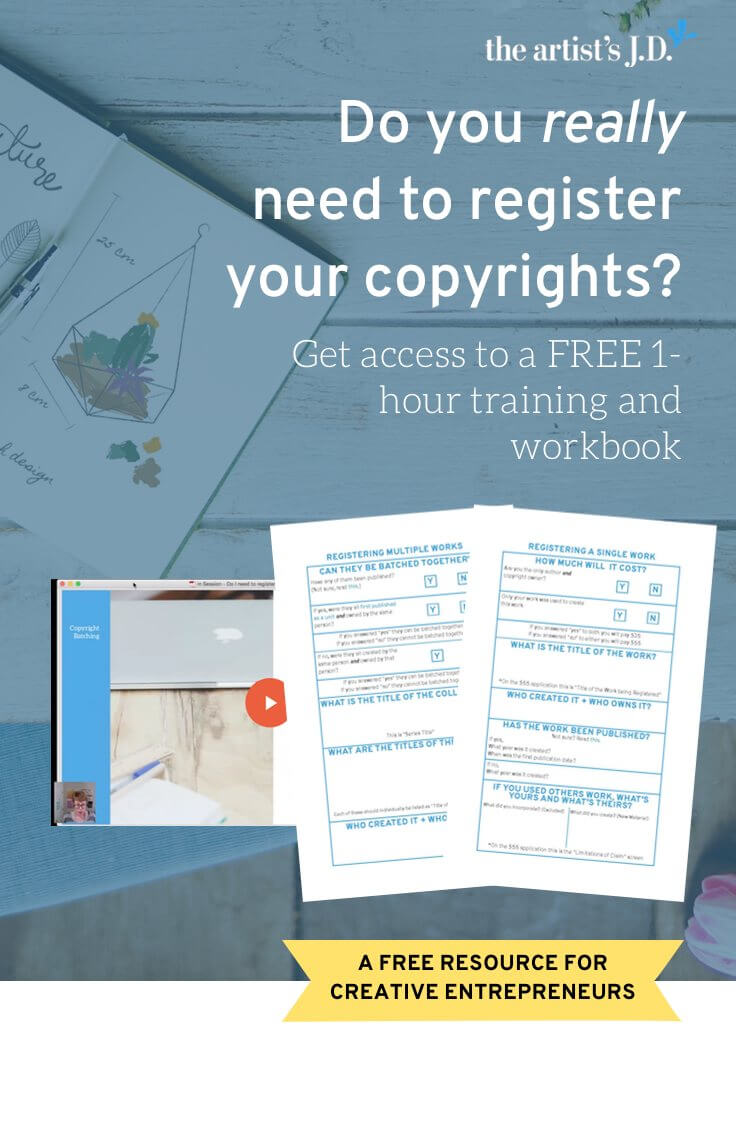 Learn why you need to register your copyrights in this FREE 1-hour training. Plus grab a workbook that to help you submit your application. Click through to get access.
