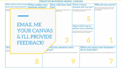 A business plan is critical for every creative business. Head here to grab a 1-page business plan template for your creative biz.