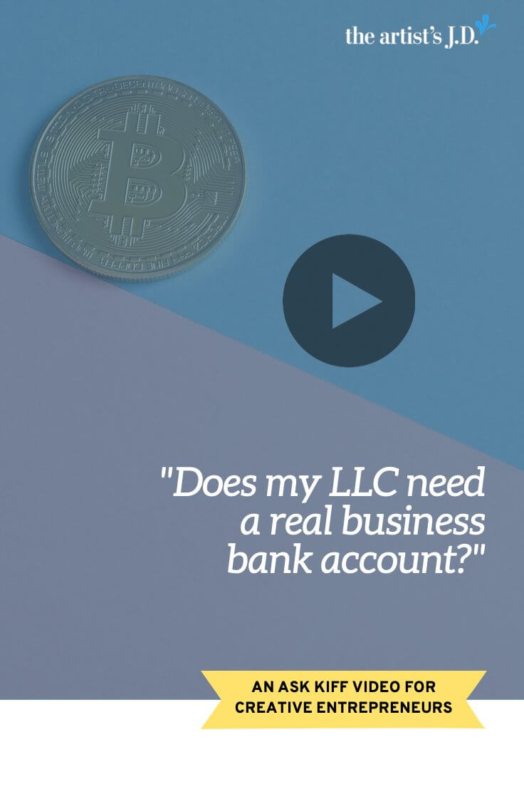 """Does your LLC need a """"real"""" business bank account? Or can you just get away with a personal bank account where you only keep the LLC's money? Click through to watch this video to learn!  The short answer is that you MUST keep the LLC's money in its own name. Because if you don't it's not really the LLC's money.  Curious what other tasks you should be doing now you are an LLC? Then click through to grab a free workbook as well."""