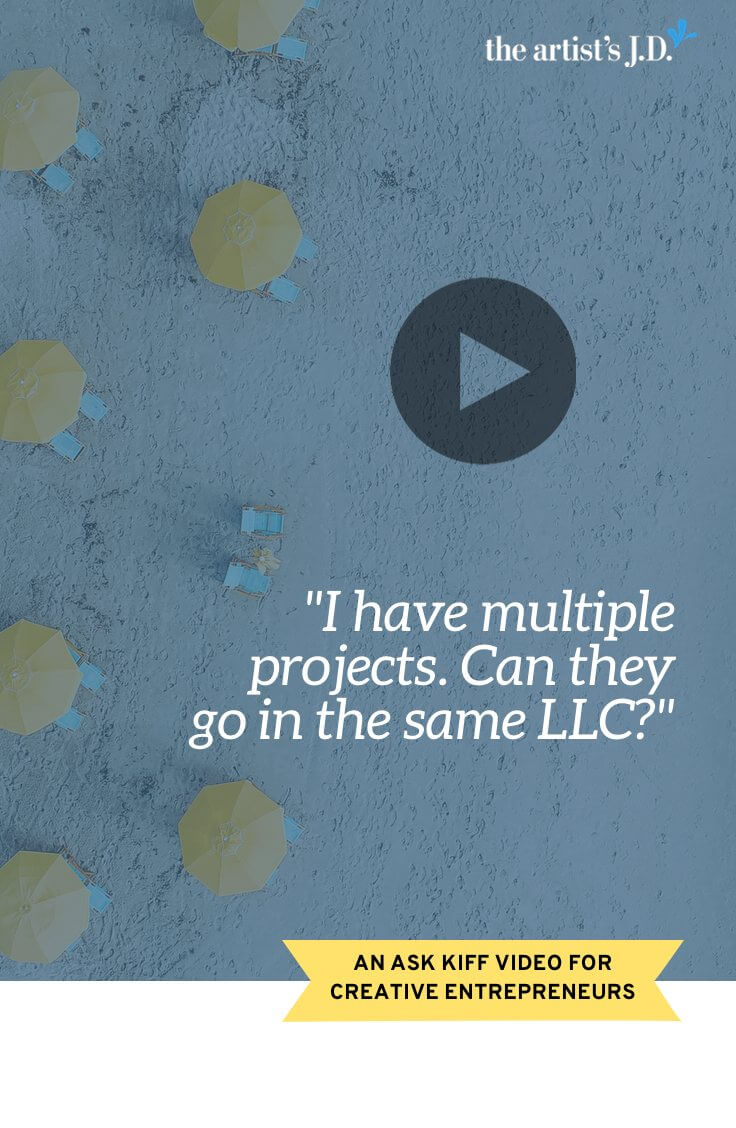 When is it a good (or bad) idea to have multiple projects, brands, or businesses in the same LLC? Click through to watch this video to learn!  The short answer is that you can have them under the same LLC umbrella if you are okay with them impacting each other.  Because if something goes wrong in one project, brand, or business, the law sees no distinction between them. So if something goes bad in one, it'll impact the rest.  Click through to learn the full story, plus grab a free workbook.