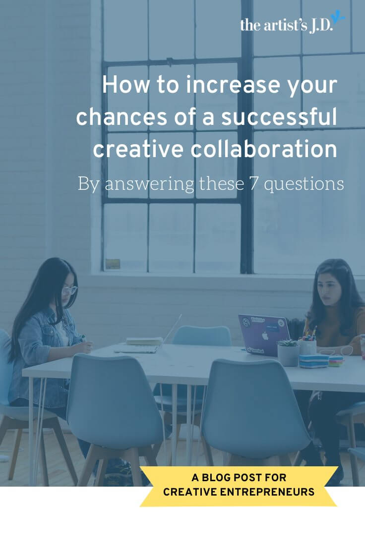 How to increase your chances of a successful creative collaboration | Most collaborations end at some point and discussing these 7 questions **before** you start your collaboration will increase your chances of ending with a happy parting of ways, not a fiery crash.