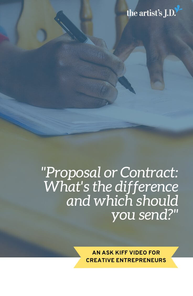 Proposal or Contract: What\'s the difference and which should you send? | Are you unsure if you should send your client a proposal or a contract? They have very different purposes, so the secret to knowing which one you should send is figuring out why you are sending it.